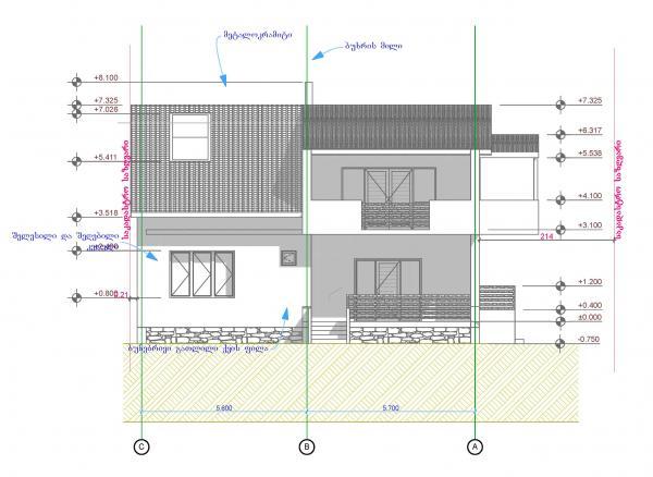 პროექტი, ინდივიდუალური საცხოვრებელი სახლი